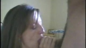 Blonde wife giving some nice head