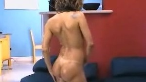 Brazilian Girl All Oiled Playing with her Clit