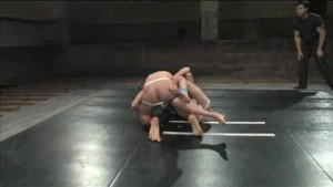 Guys wrestle - loser gets fucked!
