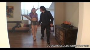 Three Hot Cougars Sharing Cock
