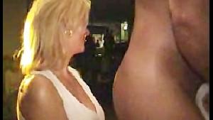 Girl suck strippers cock