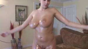 Baby Oil Rubbed On My Big Tits