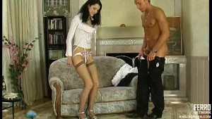 Sexy servant fucked in the ass