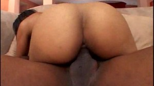 Black girl in bright orange undies takes in white jizz pt 2/4
