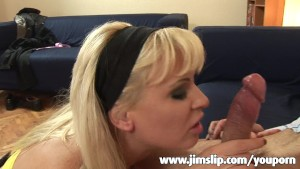 Blonde Milf getting rammed by UK senior