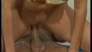 Hot brunette comes crawling for cock