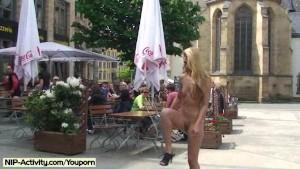 Celine - Cute Babe Has Fun In Public Streets