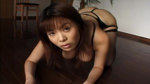 Huge chested Asian showing off and getting off