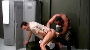 Bear Cops Fucking In The Locker Room