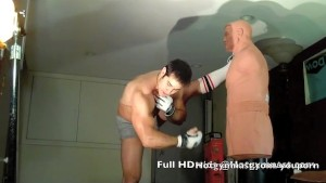 Leather Cumming muscle stud!