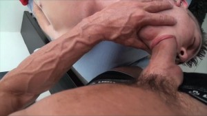 GayRoom perfect hairless hole gets a deep tissue massage fuck