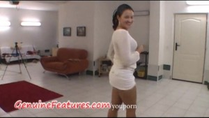 Real backstage fun with superhorny czech chick