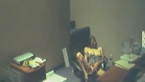 Horny secretary caught by a security camera