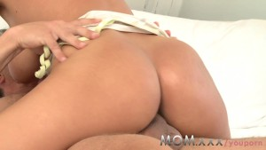 MOM Brunette MILF with Big Tits has multiple Orgasms