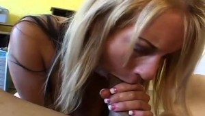 sexy blonde amateur smoke a cig while showing us how to suck cock