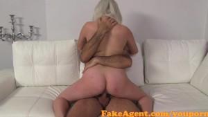 FakeAgent Cute blonde amateur gets huge Facial in Casint