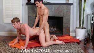 ManRoyale Boyfriends have hot sex by fireplace
