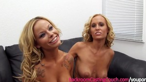 2 Busty Girlfriends Walk Into An Office...