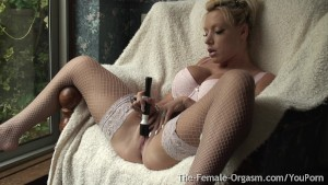Horny MILF with Big Tits Double Real Long Pussy Pulsing Orgasms
