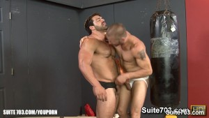 Hot jocks fucking their tight buttholes in the gym
