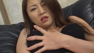 Yuki Touma fondles her hot cans and arouses nooky with vibrator