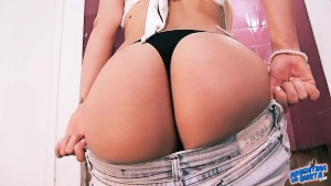 Amazing Breasts! Round Ass! Big Cameltoe! What a Teen Body!