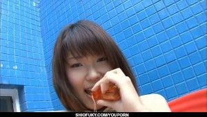 Appealing Yuuni Hoshi likes masturbating on cam
