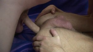 Intense gay men do anal fucking with cumshots
