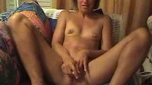 Sexy milf with small tits masturbating in a hotel