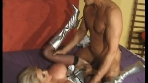 Blonde big titted MILF takes it hard in her arse
