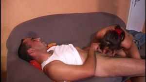 Tattooed MILF Fucked on the Couch - DBM Video