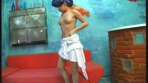 Manga Girl Monika in flexible poses