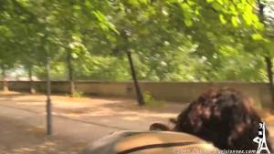 Voyeur upskirt in Paris see thru panties