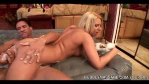 Stunning Blonde Sucks And Strokes Cock