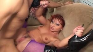 Katja Kassin fishnet sex