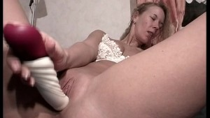 Blonde says dildo is her play station