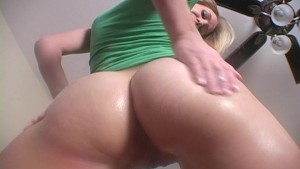 Allison lubes up her tight little hole
