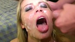 British pornstar Alexis May cumshot party!
