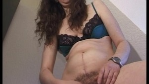 Hairy mom likes vibrators in her ass