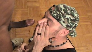 Gagging on your big black cock (clip)