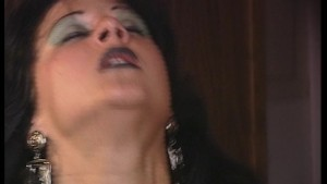 Dark haired beauty on fire with passion (clip)