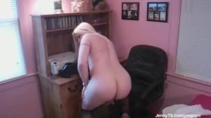 JennyTS at her desk