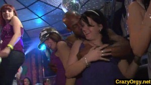 Party sluts do it with male strippers