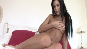 Sexy Madison Parker stripping and fingering