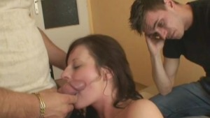 Sly chick satisfies two desires