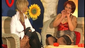 Chubby redhead German works her holes before BJ and shower - DBM Video