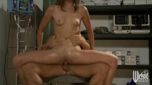 Hot brunette nurse gets ass-fucked by doctors dick