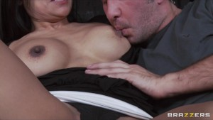 Horny Big-Tit Brunette Latina MILF fucks daughter s BF s hard dick