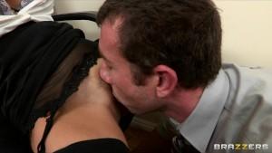 Big-tit brunette Latina boss fucks employee s hard-dick in office