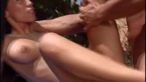 Fucking that hot babe outside - Un-Plugged